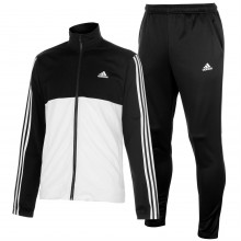 adidas 3 Stripe Basic Poly Tracksuit Mens