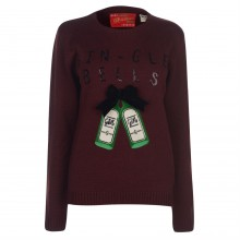 Star Christmas Knitted Jumper Ladies
