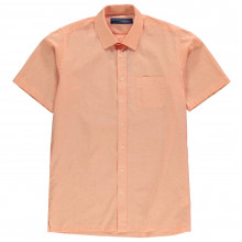 Jonathon Charles Short Sleeve Linen Mix Shirt Mens