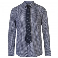 Pierre Cardin Long Sleeve Shirt Mens with Giorgio Tie