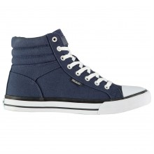 SoulCal Asti Canvas Mens Hi Top Trainers