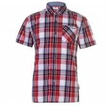 Lee Cooper Short Sleeve Check Shirt Mens