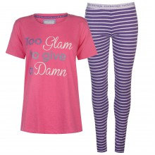 Rock and Rags Slogan PJ Set