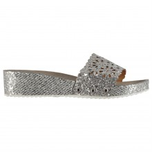 M Collection Glitter Ladies Wedge Sandals
