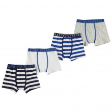 Crafted Essentials 4 Pack Boxers Child Boys