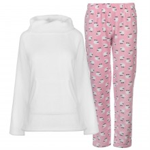 Miso Cowl Fleece Pyjama Set Ladies