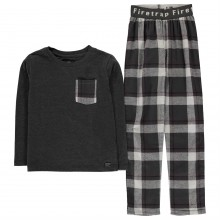 Firetrap Long Sleeve Pyjama Set Junior Boys