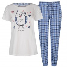 Rock and Rags Short Sleeve Pyjama Set Ladies