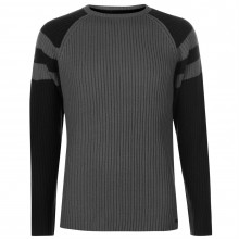 Мужской свитер Pierre Cardin Ribbed Crew Knit Mens