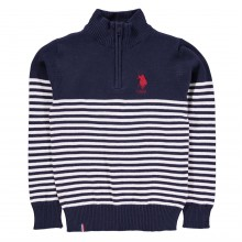 US Polo Assn Polo Zp Knit Swt Jn84