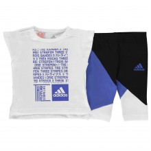 adidas Print Tee and Tights Set Babies
