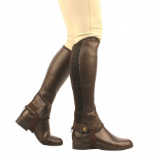 Saxon Equileather Childs Half Chaps