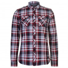 Firetrap Blackseal Long Sleeve Checked Shirt