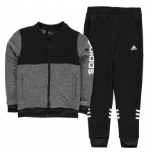 adidas Linear Logo Poly Tracksuit Junior Boys