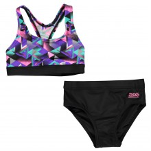 Zoggs Kitch Chaos 2 Piece Swimsuit Junior Girls