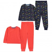 Crafted 2 Pack Design Pyjamas Childrens
