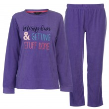 Miso Fleece Sign PJ Set Ladies
