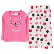 Crafted Cuddle Fleece Pyjama Set Infants