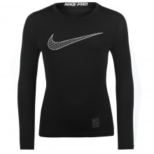 Nike Pro Core Long Sleeve Tee Shirt Junior Boys