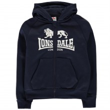 Lonsdale 2 Stripe Zip Hoody Junior Boys