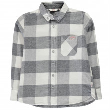 Lee Cooper Soft Check Long Sleeve Shirt Junior Boys