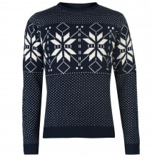 Мужской свитер Pierre Cardin Crew Neck Fair Isle Knit Sweater Mens