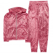 LA Gear Velvour Tracksuit Junior Girls