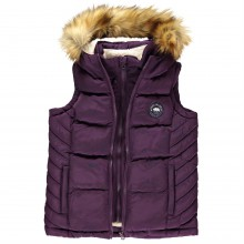 SoulCal Quilted Fleece Gilet Childrens