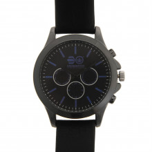 Crosshatch Leather Strap Watch Mens