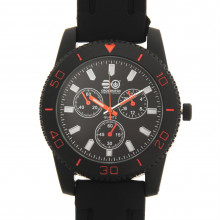 Crosshatch Quartz Rubber Strap Watch Mens