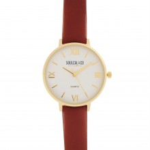 Женские часы SoulCal Classic Leather Strap Watch Womens