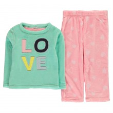 Crafted Cuddle Fleece Pyjamas Junior