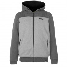 No Fear Lined Zip Through Hoody Mens