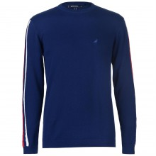 Kangol Stripe Knit Sleeve Jumper Mens