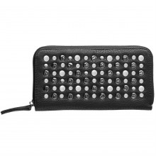 Label Lab Hammered Stud Zip Around Purse