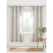 Gray and Willow Coast Embroidered Voile Curtain Pair 145X180cm