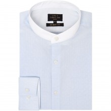 Label Lab Lemongrad Dobby Grandad Shirt with White Trim