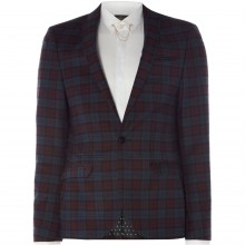 Label Lab Haynes Grid Check Suit Jacket