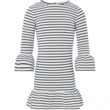 Bardot Junior Girls Stripe Frill Long Sleeve Dress