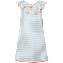 Little Dickins and Jon Girls Short Sleeve Stripe Jersey Dress With Trim