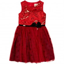 Character Girls Minnie Bow Waist Sequin Dress