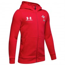 Детская толстовка Under Armour Wales Rugby Rival Hoodie 2019 2020 Junior