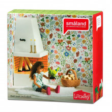 Lundby Smaland Corner Fireplace Set