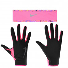 Nike Running Headband and Glove Set Ladies