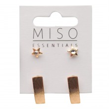 Miso Earring Studs Ladies