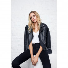 Женская куртка Firetrap Blackseal PU Biker Jacket