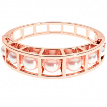 Karen Millen Cube Cage Pearl Hinged Bangle