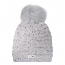 Женская шапка Ugg Cable Knit Pom Beanie Hat