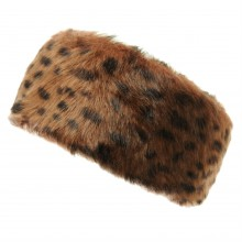 Caldene Leopard Faux Fur Head Band