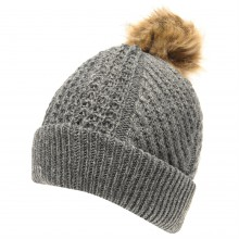 Firetrap Blackseal Pom Beanie Ladies